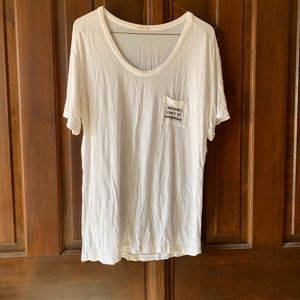 "Brandy Melville ""Mermaids Don't Do Homework"" Tee"